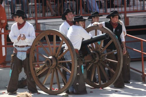 Texas Longhorns Smokey the Cannon