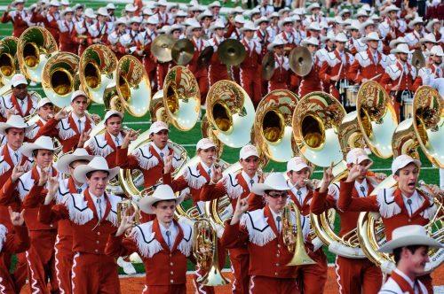 Longhorn Band at Texas Memorial Stadium