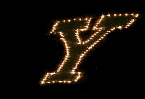 Lighting of The Y BYU Cougars
