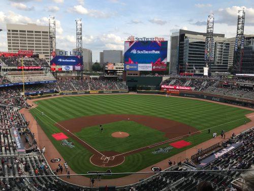 Scoreboard Truist Park Atlanta Braves