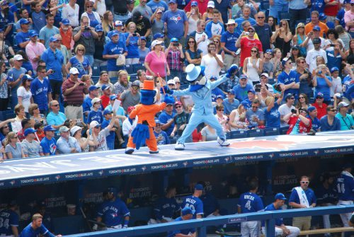 Ace and Junior Toronto Blue Jays mascots