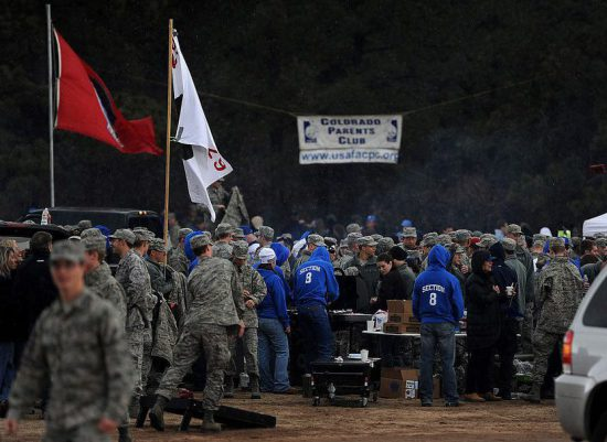 Air Force Falcons tailgaters before the football game