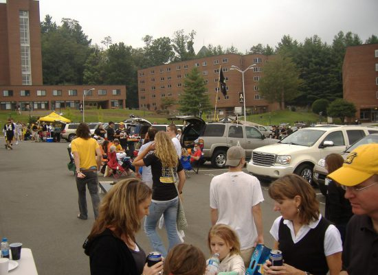 App State Mountaineers fans at parking lot