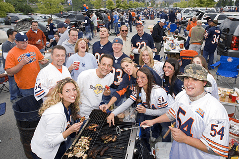 Chicago Bears Fans barbecue party
