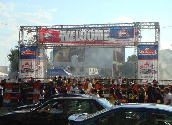 fans tailgating at a Buffalo Bills football game