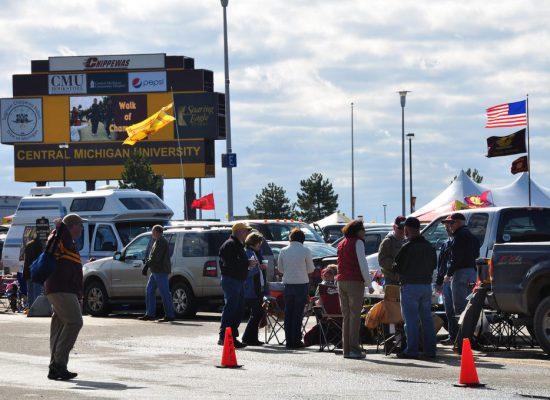 CMU Chippewas fans on football gameday