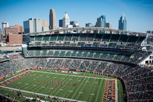 Cincinnati Skyline view from Paul Brown Stadium