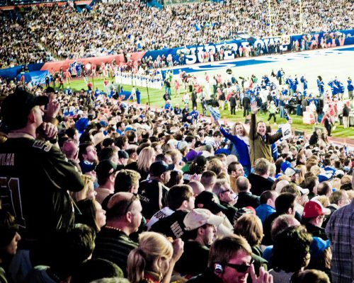 Indianapolis Colts fans at Super Bowl game