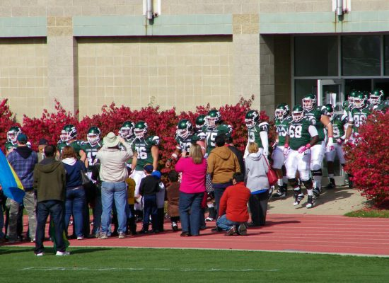 EMU Eagles football players meet fans