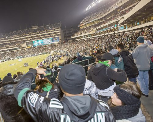 NFL Philadelphia Eagles fans at the game