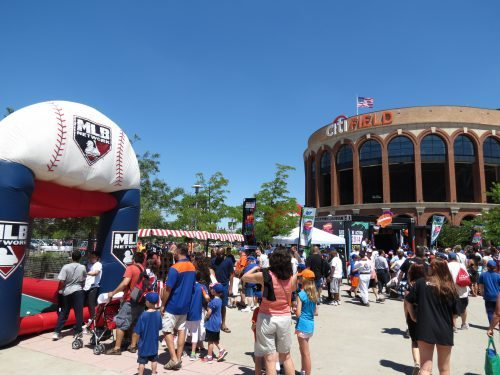New York Mets fan fest at Citi Field kids area inflatable