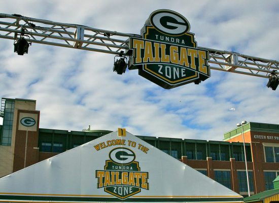 Tundra Tailgate Zone Green Bay Packers game
