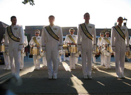 Georgia Tech Yellow Jackets band drum