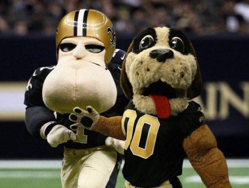 Gumbo and Sir Saint New Orleans Saints mascot
