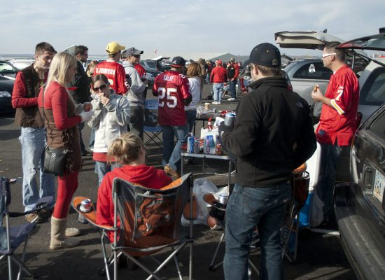 fans tailgating at Kansas City Chiefs game