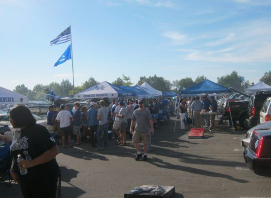 Kentucky Wildcats fans on tailgate lot