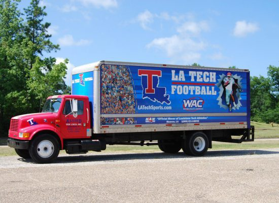 LA Tech Bulldogs truck