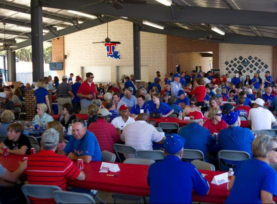LA Tech Bulldogs fans Homecoming
