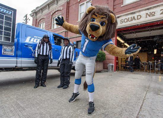Detroit Lions mascot Roary