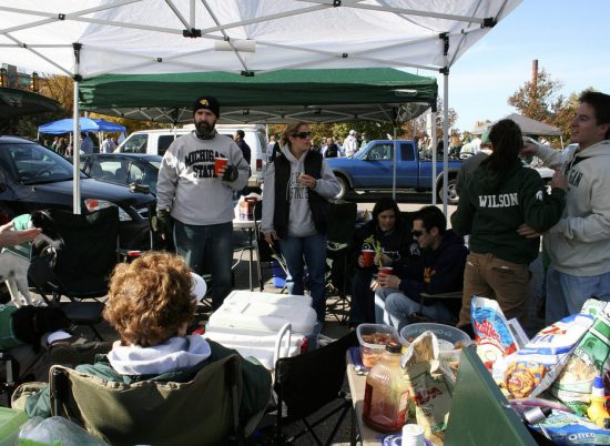 MSU Spartans tailgaters