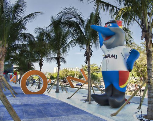 Miami Marlins inflatable mascot Billy the Marlin