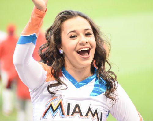 Miami Marlins cheerleader