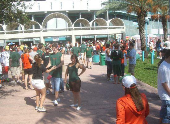 Miami Hurricanes football fans