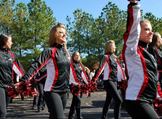 NC State Wolfpack cheerleaders parade