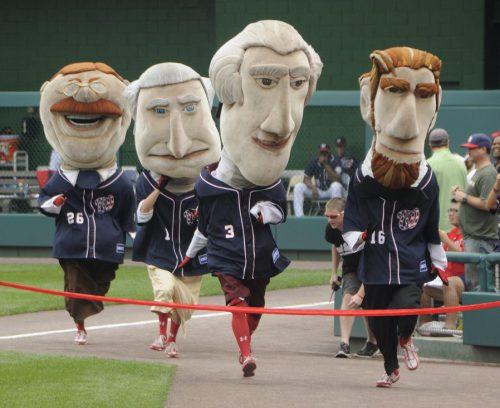 Racing Presidents at Washington Nationals game