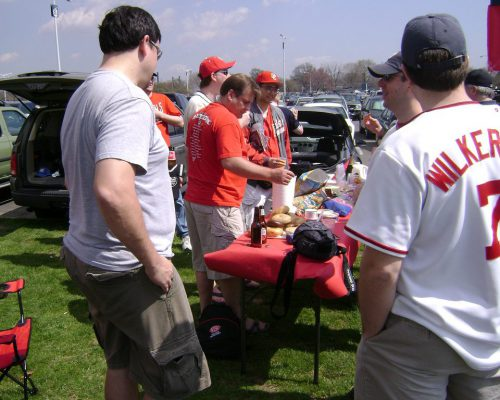 Washington Nationals fans tailgate party