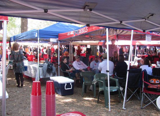Ole Miss Rebels tailgating tents