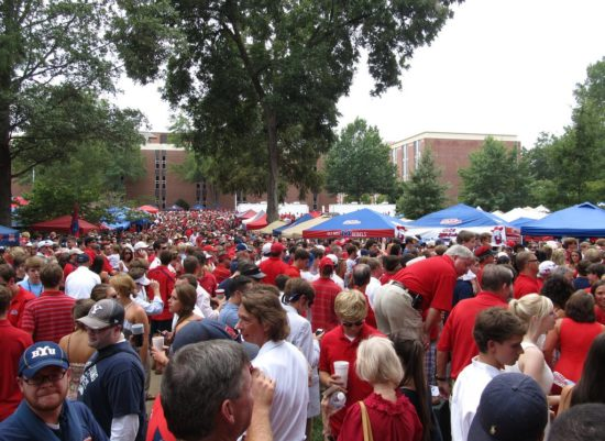 Ole Miss Rebels fans tailgating