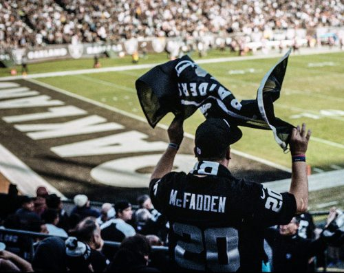fan at the Oakland Raiders game