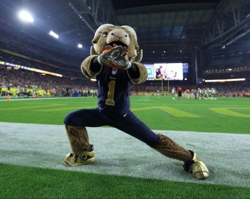 Los Angeles Rams mascot Rampage