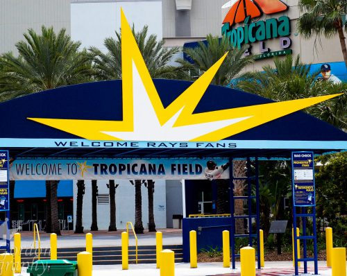 Welcome to Tropicana Field entrance