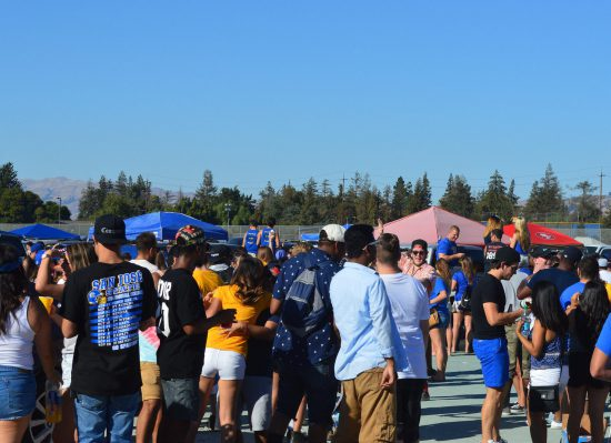 San Jose State Spartans fans at tailgate party