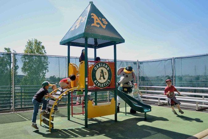 Oakland Athletics kids area