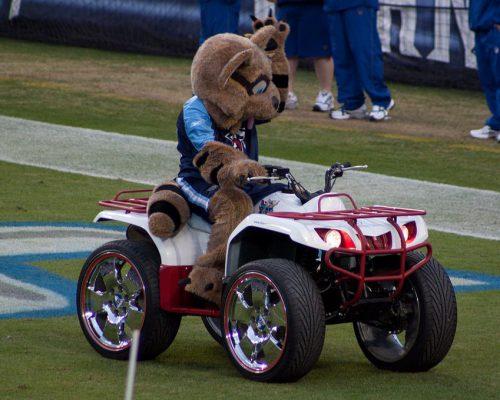 Tennessee Titans mascot T Rac