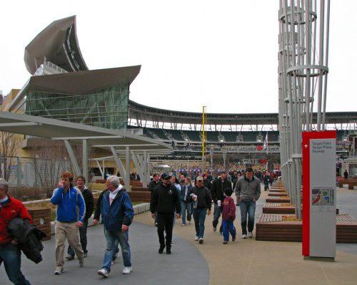 Minnesota Twins fans at Target Field