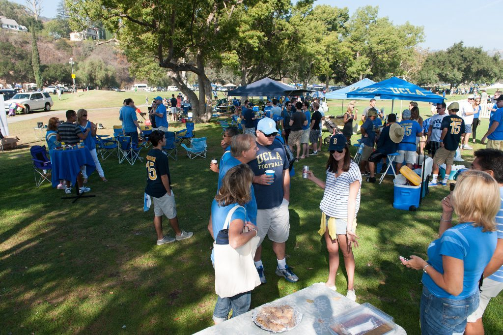 UCLA Bruins fans tailgating