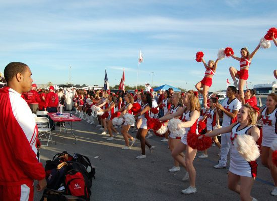 Houston Cougars cheerleaders
