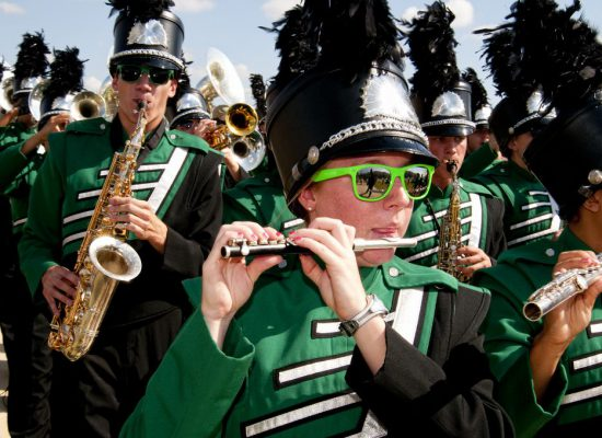 North Texas Mean Green marching band