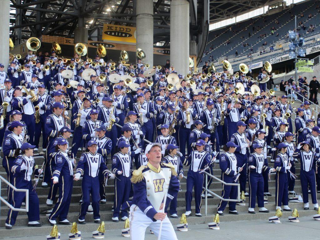 The University of Washington Husky Marching Band