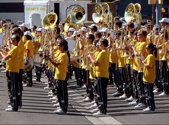Wyoming Cowboys marching band