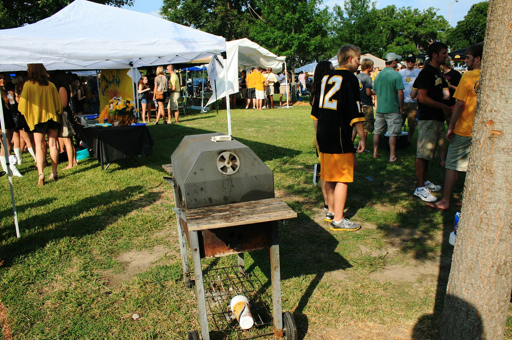 Southern Miss Golden Eagles fans tailgating on game day