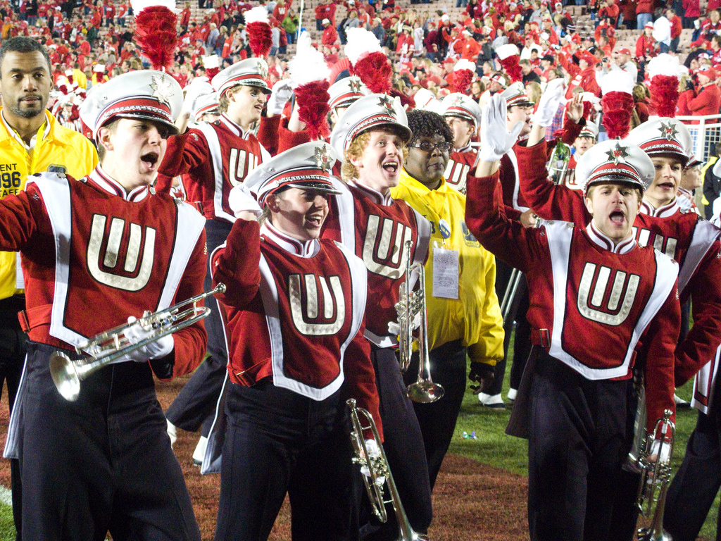 Wisconsin Badgers marching band