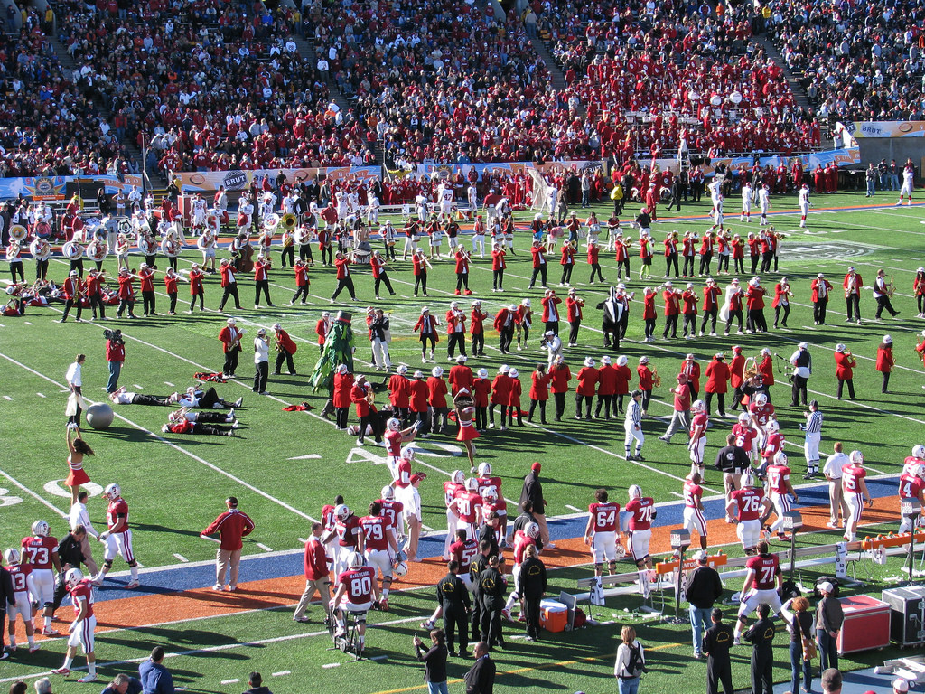 UTEP band Sound of the Southwest Marching Miner Regiment performance at football game