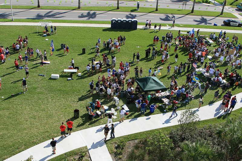 FAU Owls fans tailgating on gameday
