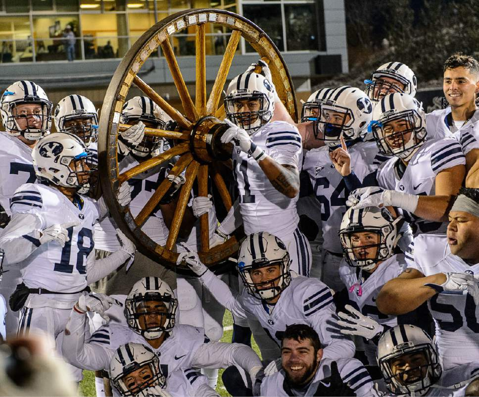 The Old Wagon Wheel BYU Cougars football players