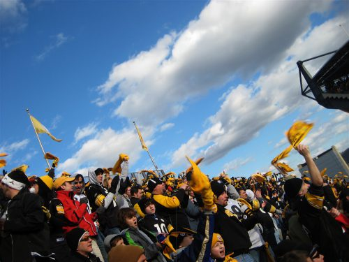 Pittsburgh Steelers fans at the game